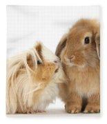 Guinea Pig And Rabbit Fleece Blanket