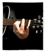 Guitar In Hands  Fleece Blanket