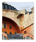 Hagia Sophia Byzantine Architecture Fleece Blanket