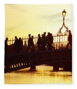 Hapenny Bridge, Dublin, Co Dublin Fleece Blanket
