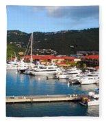 Harbor Paradise Fleece Blanket