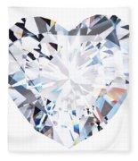 Heart Diamond  Fleece Blanket