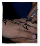 Henna Hand Fleece Blanket