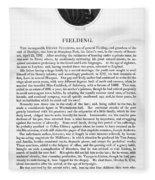Henry Fielding (1707-1754) Fleece Blanket