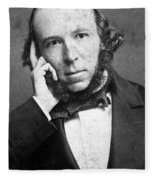 Herbert Spencer, English Polymath Fleece Blanket