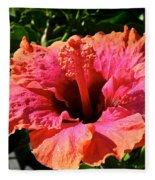 Hibiscus Blossom Fleece Blanket