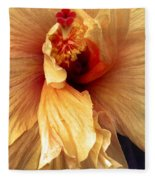 Hibiscus Interior Fleece Blanket