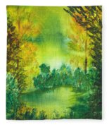 Hidden Pond Fleece Blanket
