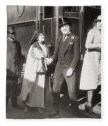 His Smothered Love, 1918 Fleece Blanket