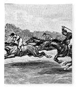 Horse Racing, 1900 Fleece Blanket