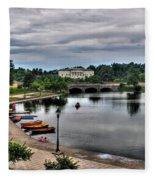Hoyt Lake Delaware Park 0005 Fleece Blanket