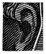 Human Ear Fleece Blanket