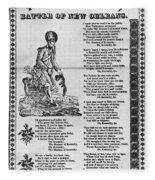 Hunters Of Kentucky, 1815 Fleece Blanket