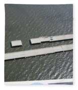 Hurricane Katrina Damage Fleece Blanket