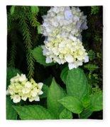 Hydrangea Blooming Fleece Blanket