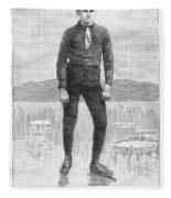 Ice Skater, 1880 Fleece Blanket