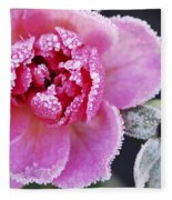 Icy Rose Fleece Blanket
