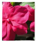 Impatiens Named Dazzler Burgundy Fleece Blanket