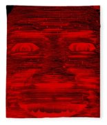 In Your Face In Negative Red Fleece Blanket