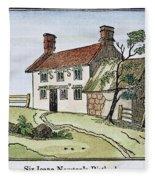 Isaac Newton Birthplace Fleece Blanket