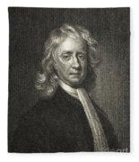 Isaac Newton, English Polymath Fleece Blanket