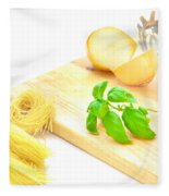 Italian Food Fleece Blanket