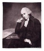 James Watt, Scottish Inventor Fleece Blanket