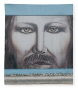 Jesus On The Street Fleece Blanket