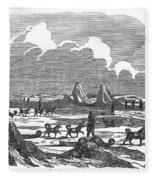 John Franklin Expedition Fleece Blanket