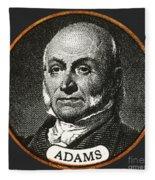 John Quincy Adams, 6th American Fleece Blanket