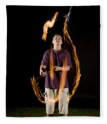 Juggling Fire Fleece Blanket