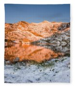 June Snowfall At Angel Lake Fleece Blanket