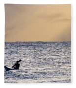 Kayak At Dawn Fleece Blanket