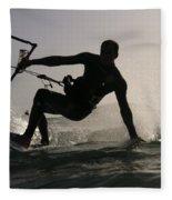 Kitesurfing Board Fleece Blanket