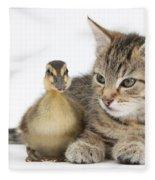 Kitten And Duckling Fleece Blanket