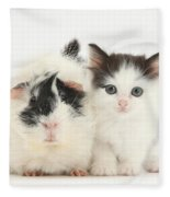 Kitten And Guinea Pig Fleece Blanket
