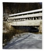 Knox Covered Bridge Fleece Blanket