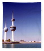 Kuwait Towers Fleece Blanket