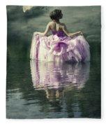 Lady In The Lake Fleece Blanket