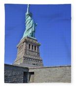 Lady Liberty 12 Fleece Blanket