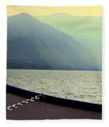 Lake Of Como Fleece Blanket