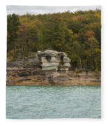 Lake Superior Pictured Rocks 49 Fleece Blanket