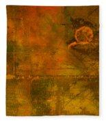 Landscape Of Mars Fleece Blanket