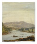 Landscape With River Fleece Blanket