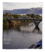 Last Light On Caveman Bridge Fleece Blanket