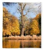 Lazienki Park Autumn Scenery Fleece Blanket