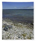 Leelanau Michigan Beach Fleece Blanket