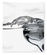 Light Bulb And Splash Water Fleece Blanket