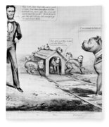 Lincoln: Cartoon, 1864 Fleece Blanket
