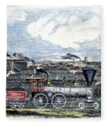Locomotive Factory, C1855 Fleece Blanket